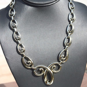 Vintage Gold Baroque Statement Chain Big Necklace